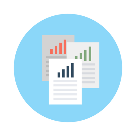 analytical: Analytical Report Vector Icon