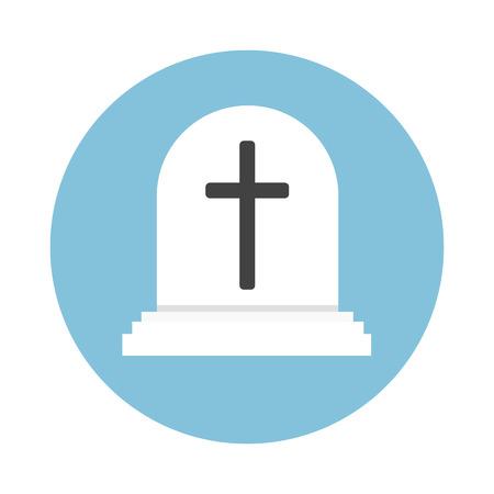 grave stone: Gravestone cartoon vector isolated