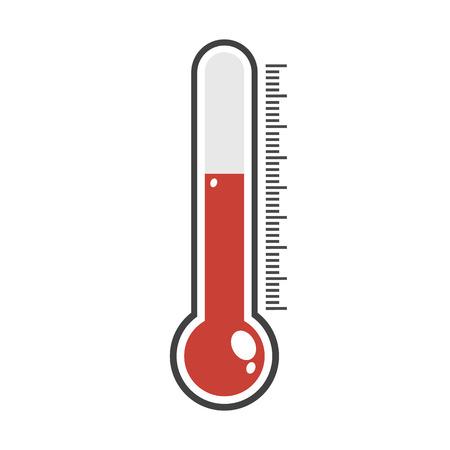 Ikona termometru. Ilustracje wektorowe