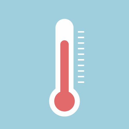 termometer: Thermometer icon , Flat design style, vector illustration. Illustration