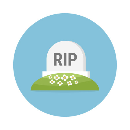 Gravestone Colored Vector Icon