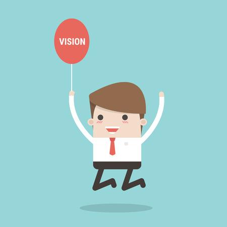 discernment: Businessman vision. Illustration