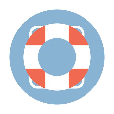 safety belts: Lifebuoy flat web icon.