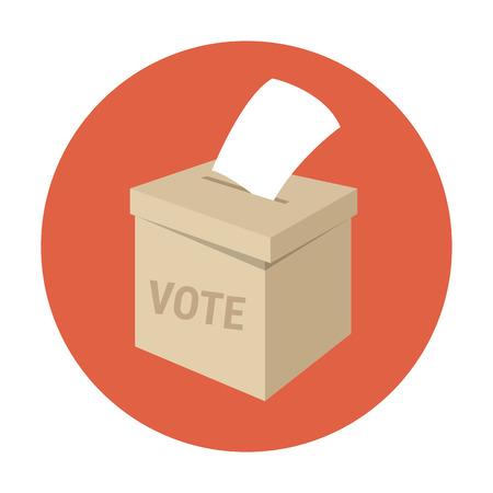투표함이나 투표 상자. 플랫 스타일