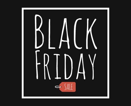 reductions: Black friday. Sale. Vector template. Handwritten lettering design with ink and brush on acrylic stain.