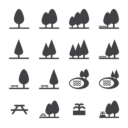 Park icon set Illustration