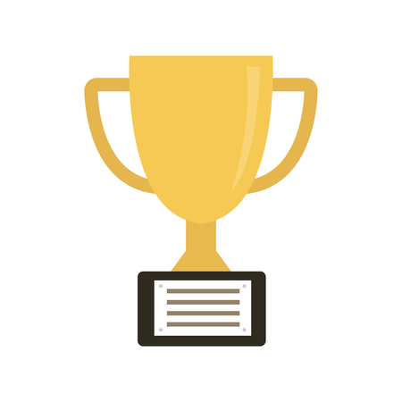 Vector Trophy Cup Flat Icon