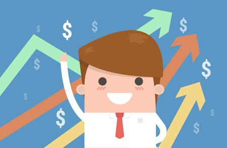 Businessman. The vector image of a businessman. Illustration