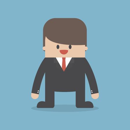 Vector of happy businessman