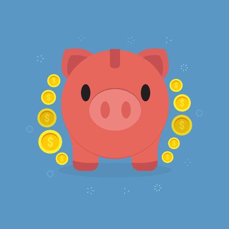 Piggy Bank Savings vector illustration.