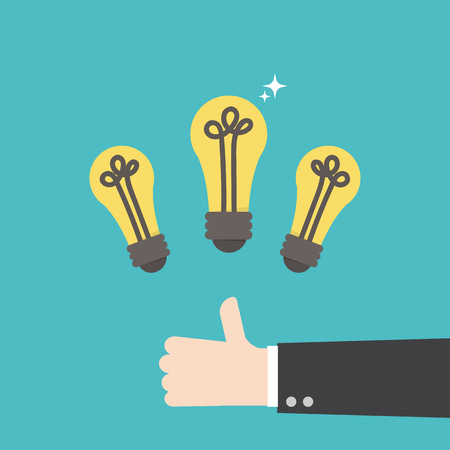 Great Idea. Business idea concept. lightbulbs