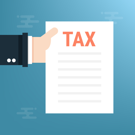 Tax, flat design