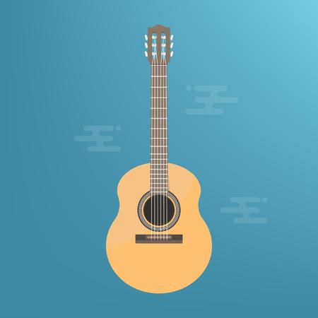 Vector Acoustic Guitar Icon