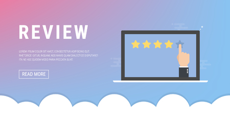 Customer reviews, rating, classification concept Vector Illustration Stock Illustratie
