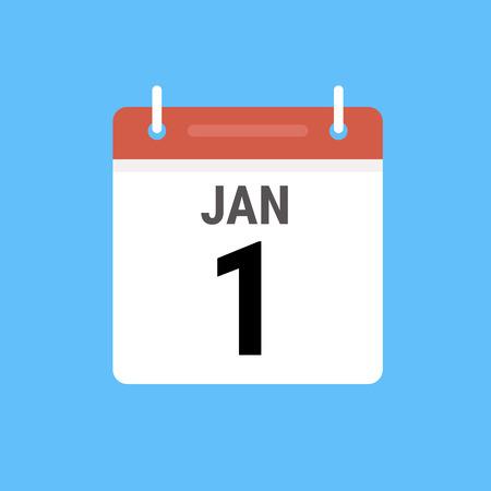 Vector Calendar Icon Illustration