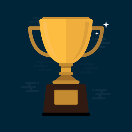 Trophy Cup Flat Icon illustration.