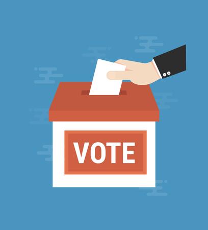 Voting concept illustration.