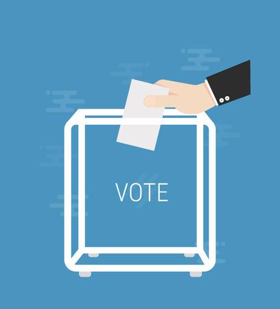 Voting election concept illustration.