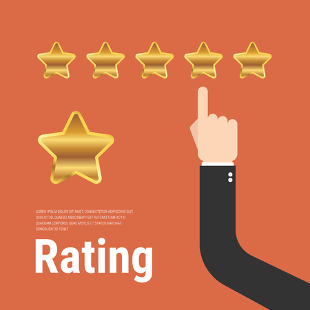 Rating stars  flat design illustration.