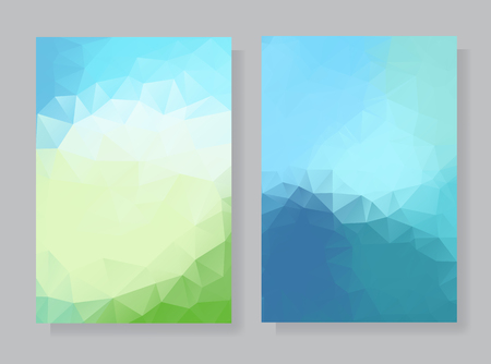 A set of polygonal backgrounds.
