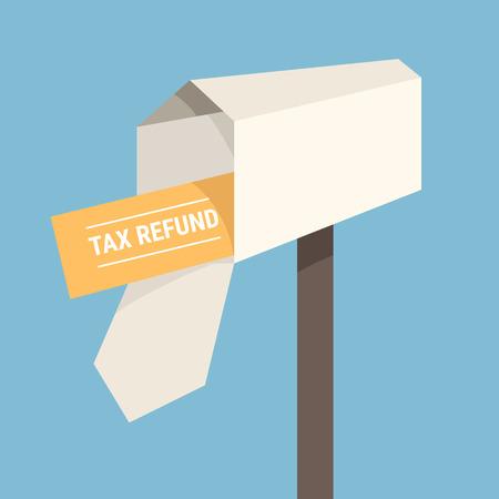 Tax refund check, tax concept. Ilustração