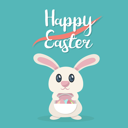 Happy Easter poster template vector illustration 向量圖像