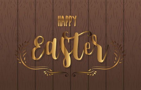 Happy Easter greeting card template vector illustration