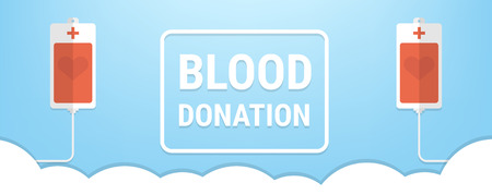 Vector of blood donation bag. EPS10 vector format, donation concept. 向量圖像