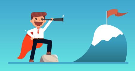business vision concept vector illustration