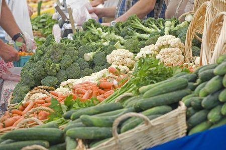 Farmers market vegtables