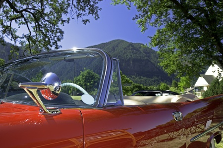 top down car: Abstract of a retro 50