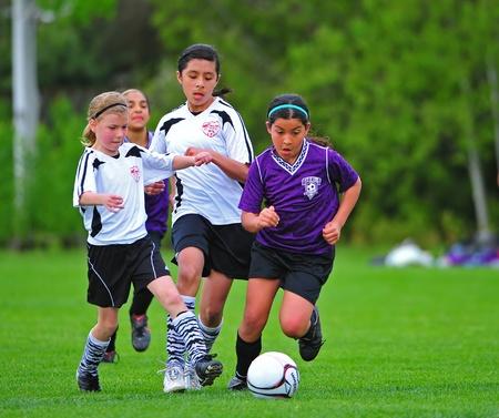 rec: 20110521 Beaverton Or parchi e rec giovani calcio leauge. FC Portland Ridere Zebra Editoriali