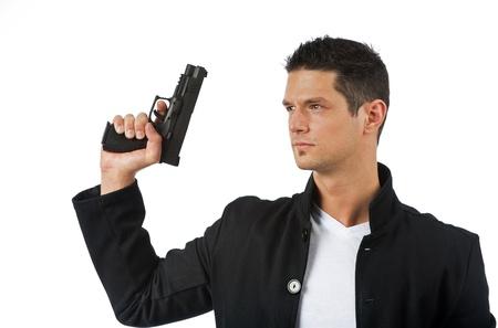 Agent prepares to take aim