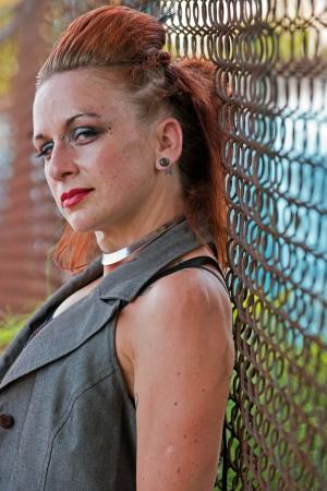 Punk woman with a tough life