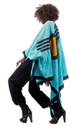 danza africana: Doblar las rodillas Foto de archivo