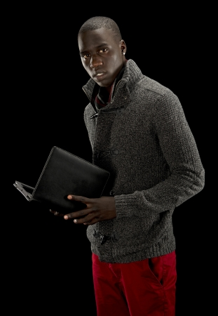 African american man with a tablet pc Stock Photo - 16085421