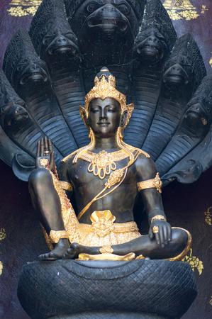 Shiva on a black background. Stock Photo