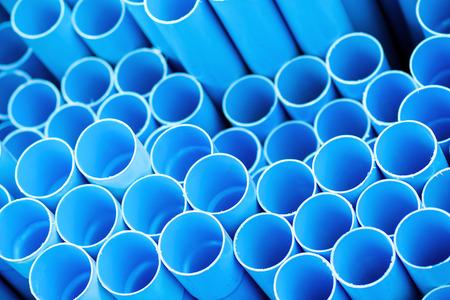 Blue pvc pipes Stock fotó