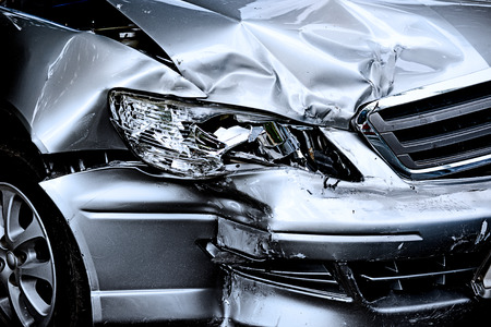 cars road: Car crash Stock Photo