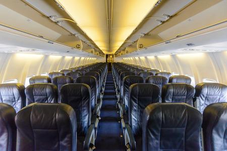 Inside an empty plane