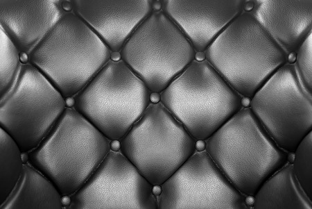 buttoned: luxury buttoned black leather background Stock Photo