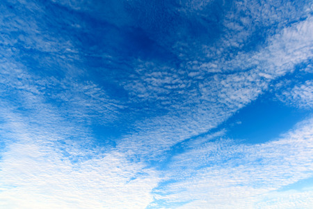 cirrus: deep winter blue sky with cirrus clouds