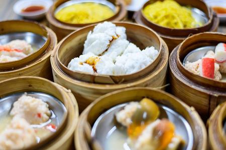 alumnos en clase: Dimsum comida china en el restaurante