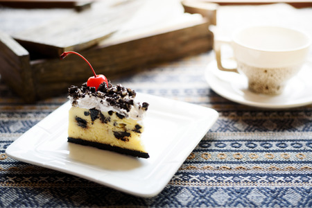 afternoon fancy cake: Cake with coffee