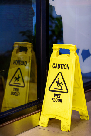 mopped: wet floor sign