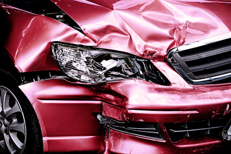 Red Car crash background
