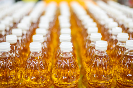 vegetable oil bottle pattern factory warehouse store food background