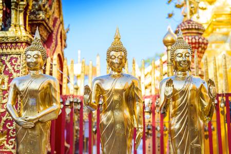 Buddha statues in Doi Suthep temple , Chiang Mai, Thailand