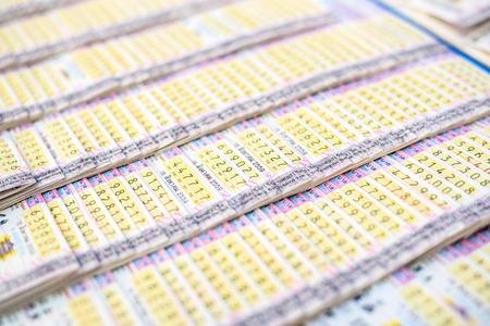 태국 복권 티켓 배경