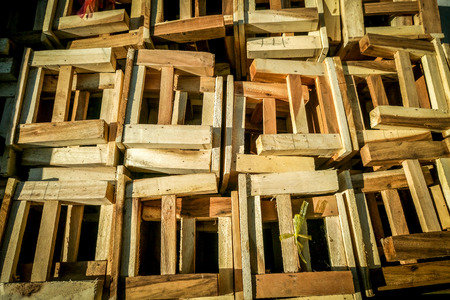 wood industrial construction background Stock Photo